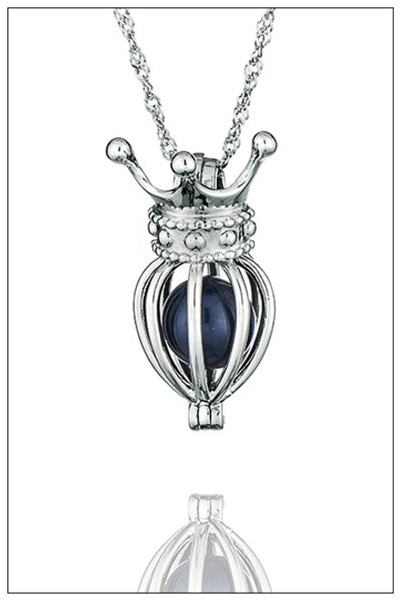 Crown Pearl Cage Necklace - ©PearlsIsland.com
