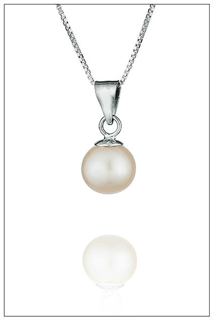 Sterling Silver WHITE Pearl Pendant