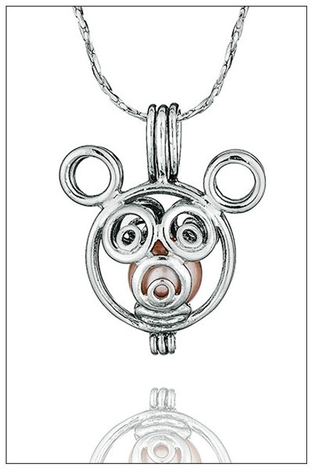 MICKEY MOUSE cage pearl necklace - ©PearlsIsland.com