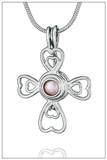 CROSS of HEARTS Pearl Cage - ©PearlsIsland.com