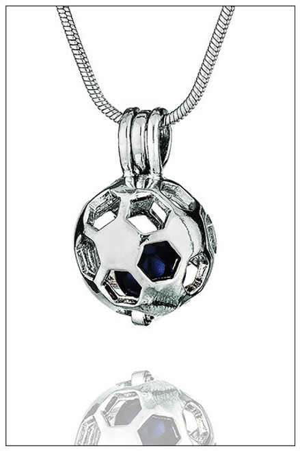SOCCER BALL pearl holding necklace - ©PearlsIsland.com