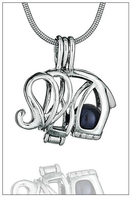 Elephant pearl necklace cage - ©PearlsIsland.com
