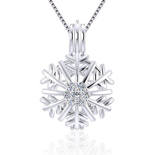 Pearl Locket Snowflake - ©PearlsIsland.com