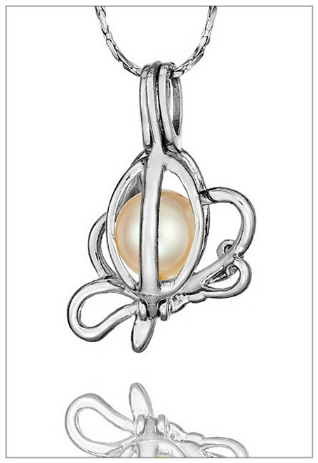 BUTTERFLY Pearl Holder Pendant - ©PearlsIsland.com