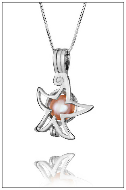 STARFISH Sterling Silver Pearl Cage - ©PearlsIsland