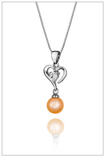 HEART Sterling Silver pendant with Cubic Zirconia