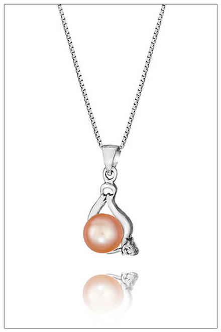 TEARDROP Sterling Silver pendant with Cubic Zirconia