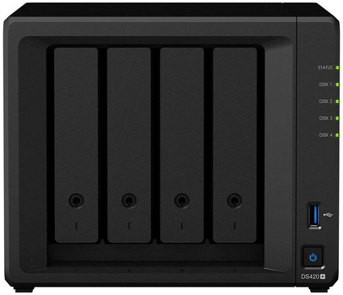 DS420+ 4-BAY DiskStation with 2GB RAM, 1TB (2x500GB) NVME Cache and 48TB (4 x 12TB) of Synology Enterprise Drives fully Assembled and Tested