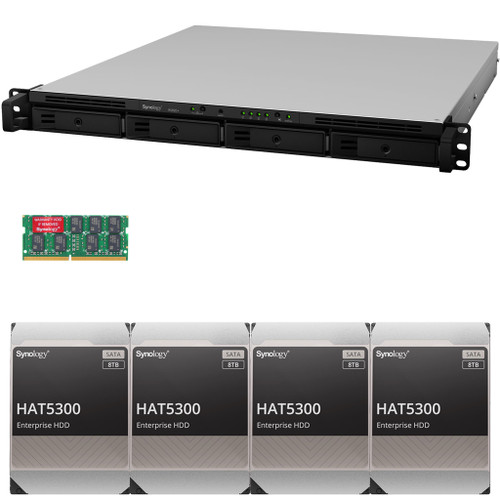 RS820+ 4-Bay RackStation with 18GB RAM and 32TB (4 x 8TB) HAT5300 Synology Enterprise Drives Fully Assembled and Tested