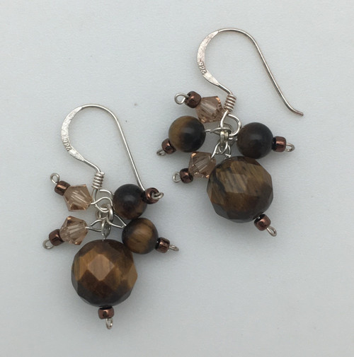 Gold Pearl and Crystal Earrings