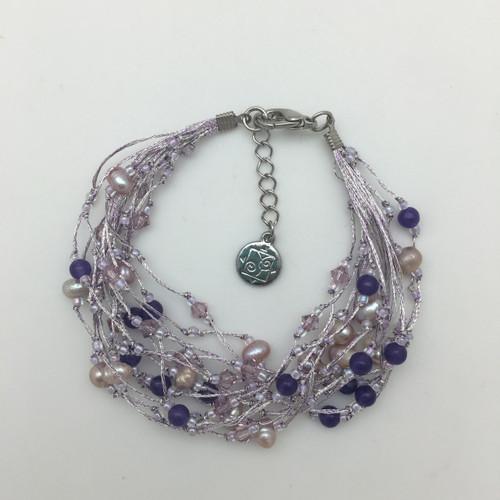 Silk Thread Lavender Bracelet