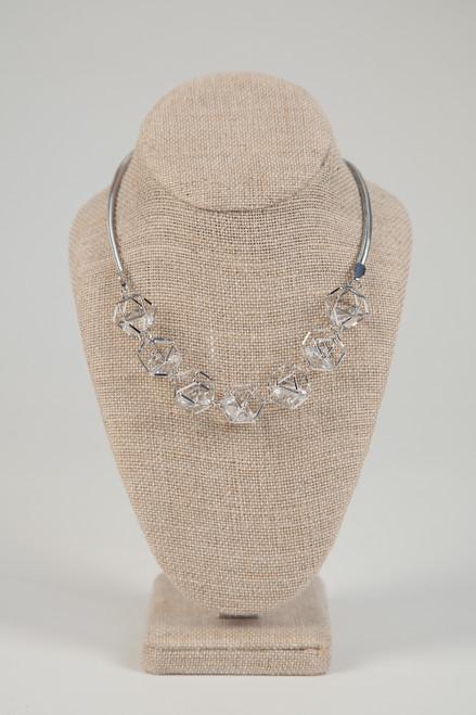 Galaxy Cage Necklace - Silver