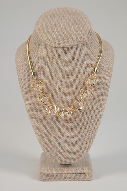 Galaxy Cage Necklace - Gold