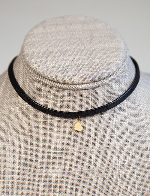 Choker with Gold Hart Pendant