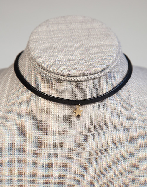 Choker with Gold Star Pendant