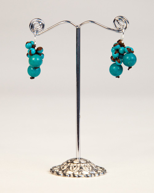 Freshwater Pearl Earrings - Turquoise