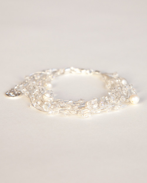 Silk Thread Bracelet - White