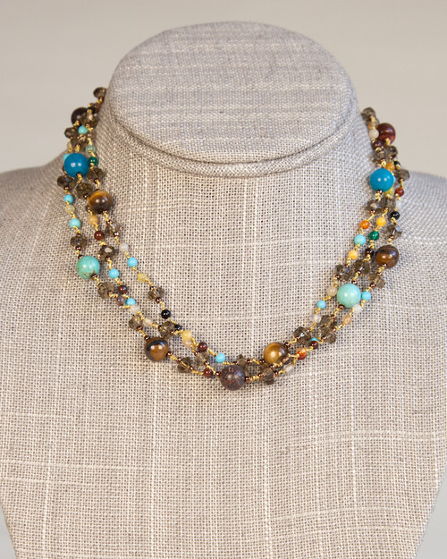 Silk Thread Turquoise Necklace