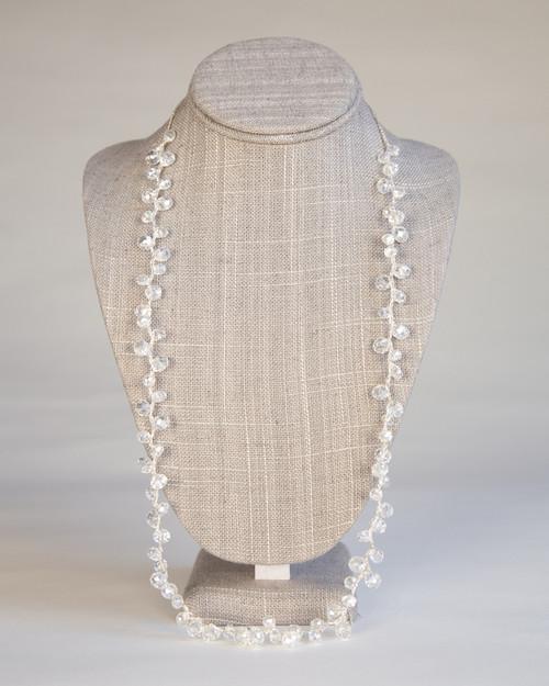 Clear Orb Necklace on Silk Thread