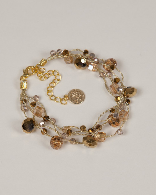 Gold Disco Bracelet