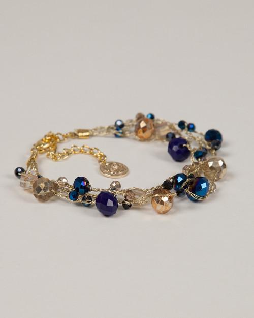 Indigo Disco Bracelet - Gold
