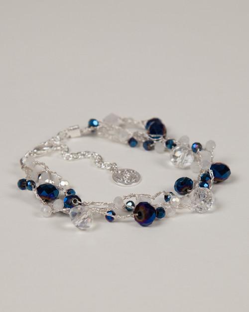 Indigo Disco Bracelet - Silver