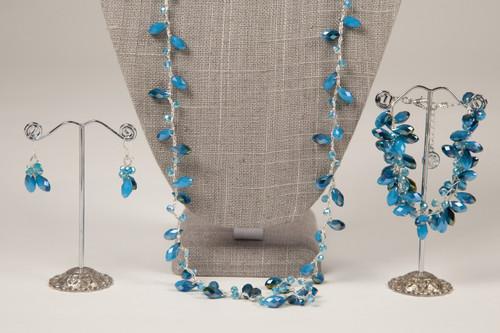 Tear Drop Earrings - Blue