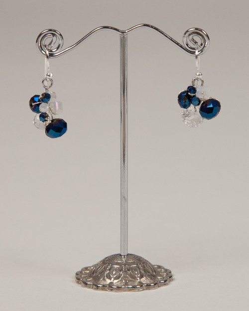 Indigo Disco Earrings