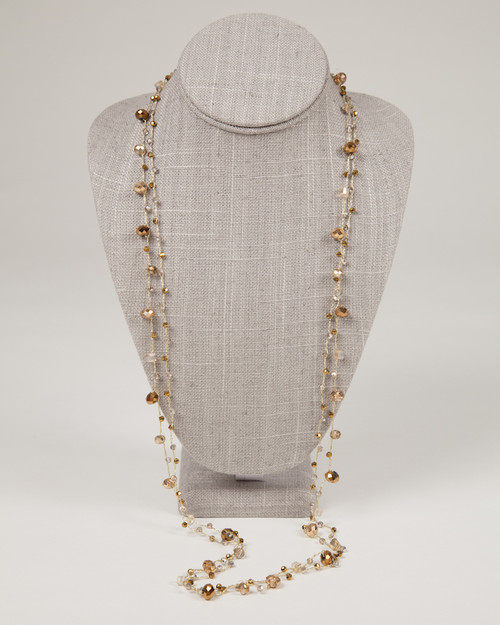 Long Gold Disco Necklace