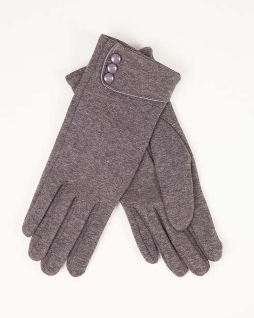 Three Button Gloves - Gray