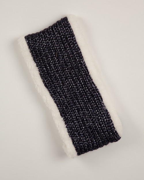 Navy Faux Fur Lined Headband