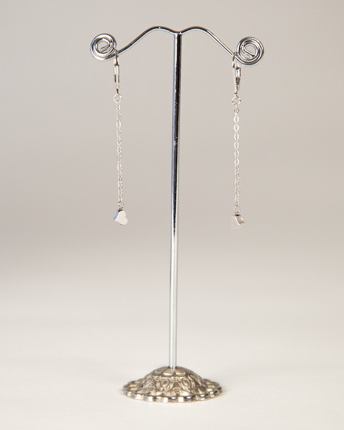 Silver Slider Collection Earrings - Hearts