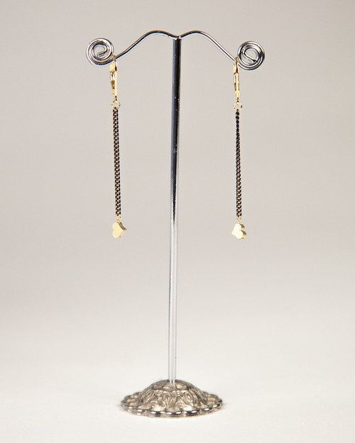 Black & Gold Slider Collection Earrings - Hearts