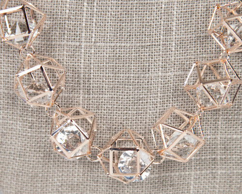 Galaxy Cage Necklace - Rose Gold