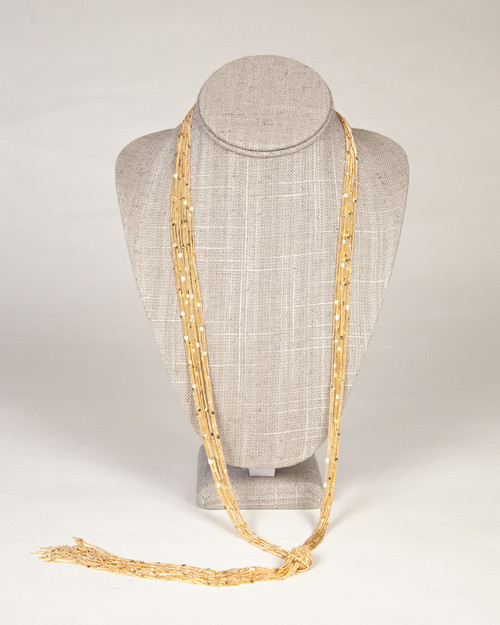 Tassel Knot Necklace-Gold