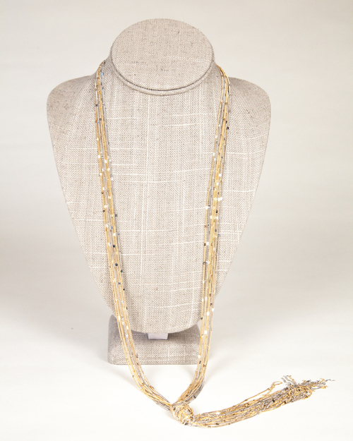 Tassel Knot Necklace-Multi