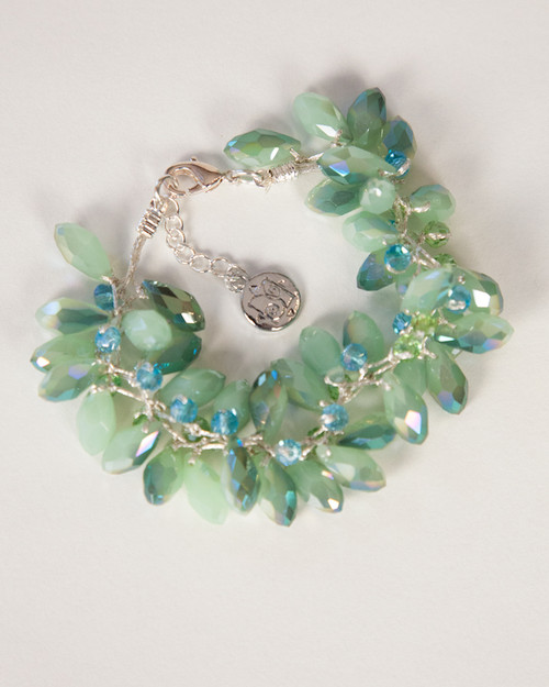 Tear Drop Bracelet-Green