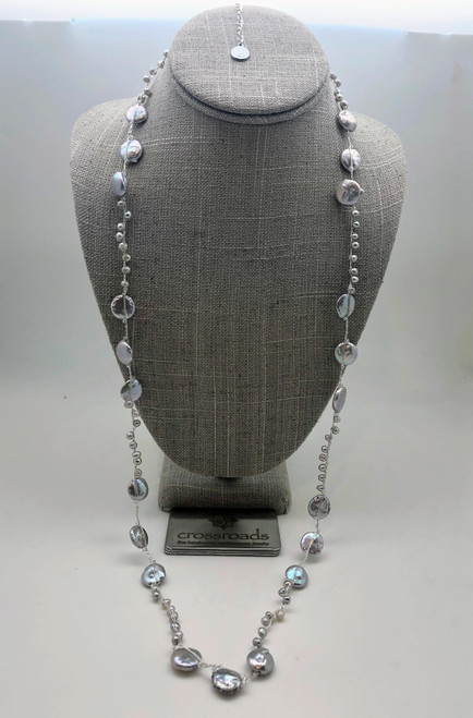 2 Way Disk Beads Silver