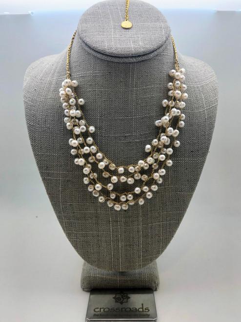 Webbed Beads White Gold