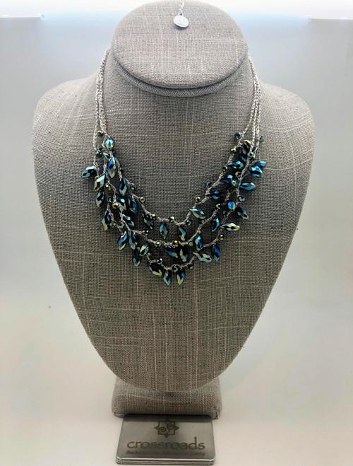 Tiered Teardrop Beads Sapphire
