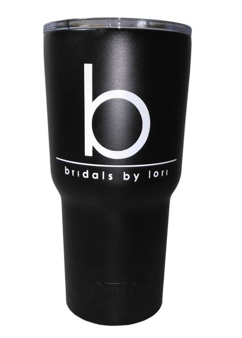 30oz. Bridals by Lori logo tumblers are stainless steel, double wall vacuum insulated. Keeps your drinks ice cold longer - works great for hot beverages. The crystal clear lid lets you know exactly how much drink you have. Easy to clean. 30oz. Bridals by Lori logo tumblers are stainless steel, double wall vacuum insulated. Keeps your drinks ice cold longer - works great for hot beverages. The crystal clear lid lets you know exactly how much drink you have. Easy to clean.