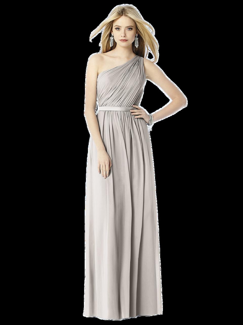 87cc2a323f4 After Six Bridesmaids Style 6706 Fabric: Lux Chiffon Full length one  shoulder lux chiffon dress