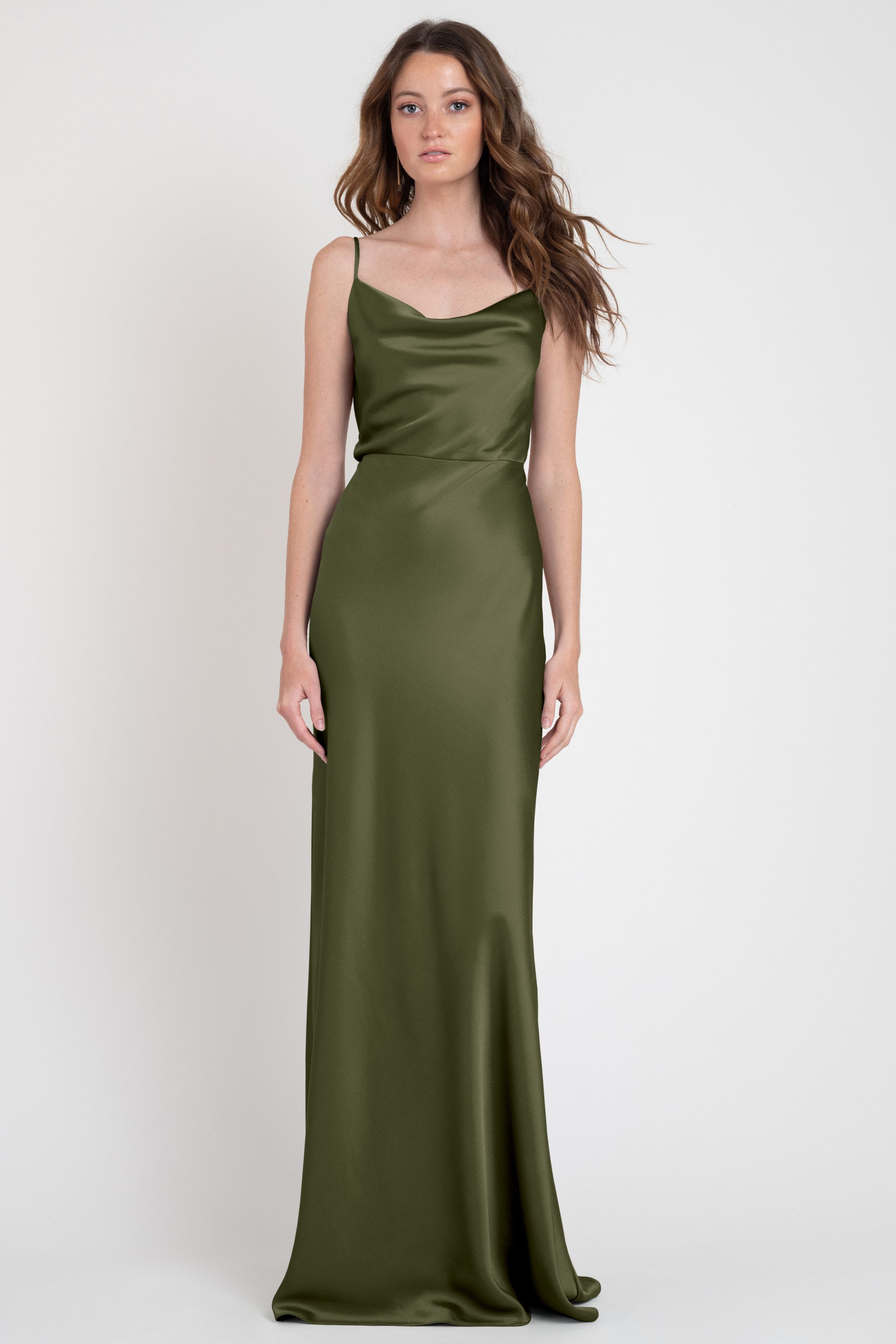 Channel Old Hollywood vibes in this stylish slip dress with a show stopping fit. Details: Cowl neckline Luxe Satin Bias cut skirt Full length Lined bodice Invisible center back zipper