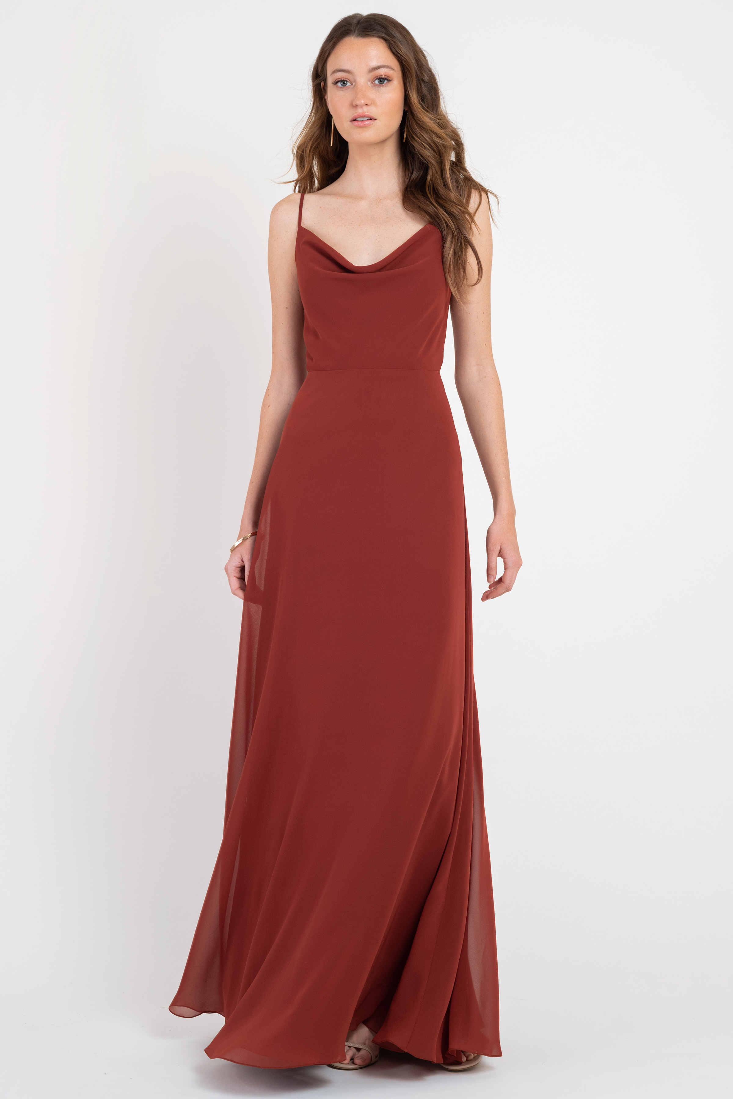 The slip dress of your dreams! The Colby's chic cowl neckline is taken to next level by her twirl worthy skirt.