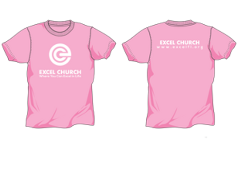 Pink and White EXCEL Ladies Shirt