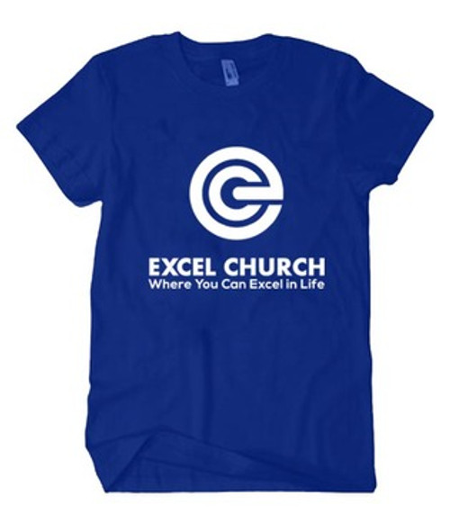 Blue and White EXCEL Shirt