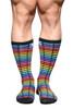 Andrew Christian Digital Paradise Pride Socks 8572 - Mens Socks - Front View - Topdrawers Clothing for Men