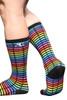 Andrew Christian Digital Paradise Pride Socks 8572 - Mens Socks - Side View - Topdrawers Clothing for Men