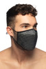 Addicted AD Party Face Mask AC137-10 Black - Mens Reusable Face Masks - Side View - Topdrawers Protective Gear for Men
