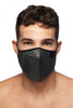 Addicted AD Party Face Mask AC137-10 Black - Mens Reusable Face Masks - Front View - Topdrawers Protective Gear for Men